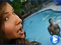 Khloe Hart gets fucked in a secluded poolhouse