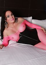 Hot Wendy playing in bodysuit & corset