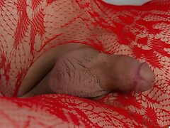 Wendy Gets Super Kinky in Her Red Hot Lace and Body Stockings