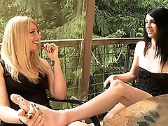Horny Hollie and TS Mandy playing with a hot chick