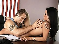 Irresistible TS gets her dick sucked and tits fucked