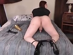Tiffany's Ass and Cock Gets Pleasured by a Fleshlight and a Dildo