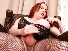 Wendy Gets Super Horny and Finger Fucked Her Ass while Stroking Her Thick Cock